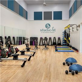 Studio Fit offers extensive equipment options so you can keep your workouts up while away!