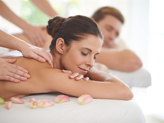 Enjoy a relaxing massage with your significant other